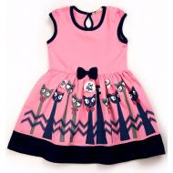 20-13395 Платье для девочки, 3-7 лет, розовый