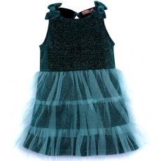 020-13421 Нарядное платье для девочек с люриксом, 2-6 лет, изумрудный