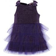 020-13423 Нарядное платье для девочек с люриксом, 2-6 лет, сиреневый