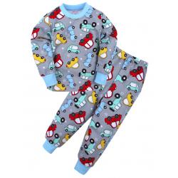 "20-92101 ""Машинки"" Пижама с начесом, 2-6 лет"