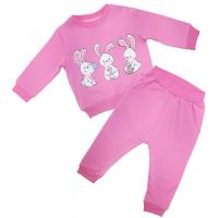 20-2473 Комплект для девочки, футер, 68-86, розовый