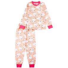 20-3000-2 Пижама для девочки, 2-6 лет, персиковый