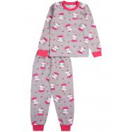 20-3000-5 Пижама для девочки, 2-6 лет, серый