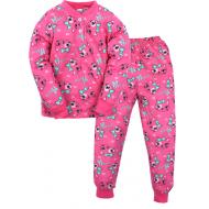20-300101 Пижама для девочки, 2-6 лет, малиновый