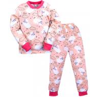 20-300102 Пижама для девочки  2-6 лет, бежевый