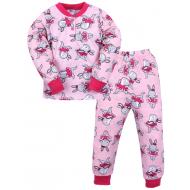 20-300103 Пижама для девочки 2-6 лет, розовый