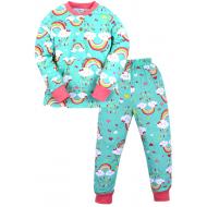20-300104 Пижама для девочки, 2-6 лет, ментоловый
