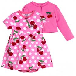 20-33602К Комплект: боди-платье, кофточка для девочки, 68-86