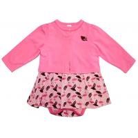 20-33604К Комплект: боди-платье, кофточка для девочки, 68-86