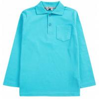 20-3531 Рубашка-поло для мальчика , 7-11 лет, бирюзовый