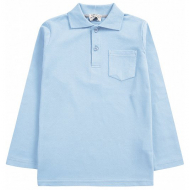20-3532 Рубашка-поло для мальчика , 7-11 лет, голубой