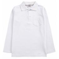 20-3533 Рубашка-поло для мальчика , 7-11 лет, белый