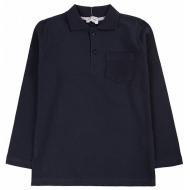 20-3534 Рубашка-поло для мальчика , 7-11 лет, т-синий