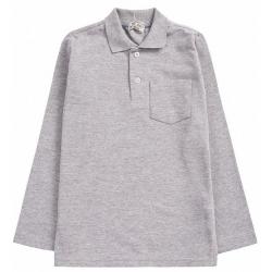 20-3535 Рубашка-поло для мальчика , 7-11 лет, меланж