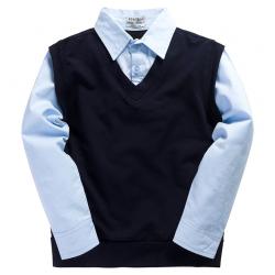 20-35401 Рубашка-обманка для мальчика, 7-11 лет