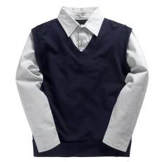 20-35402 Рубашка-обманка для мальчика, 7-11 лет
