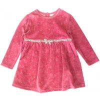 20-3571 Платье велюровое для малышки, 74-92