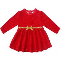 20-3572 Платье велюровое для малышки, 74-92