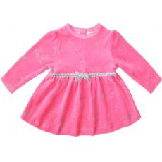 20-3574 Платье велюровое для малышки, 74-92
