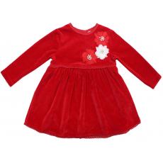 20-3591 Платье велюровое для малышки, 74-92