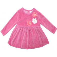 20-3592 Платье велюровое для малышки, 74-92*