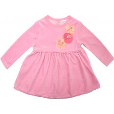 20-3593 Платье велюровое для малышки, 74-92