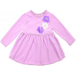 20-3594 Платье велюровое для малышки, 74-92