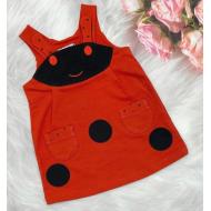 020-3631 Сарафан для девочки, фуллайкра, 2-6 лет, красный