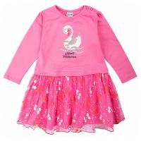 20-3751 Платье для малышки, фуллайкра, 74-92, розовый