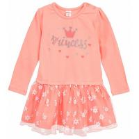 20-3752 Платье для малышки, фуллайкра, 74-92, персиковый