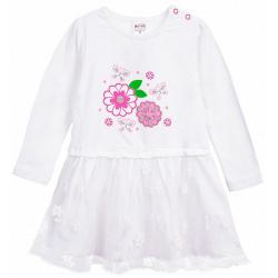 20-3753 Платье для малышки, фуллайкра, 74-92, белый