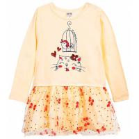 20-3754 Платье для малышки, фуллайкра, 74-92, желтый