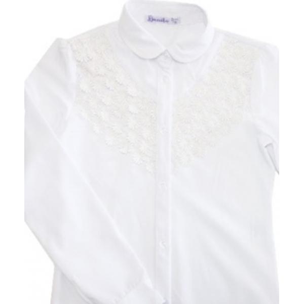 20-412 Блузка школьная с вышивкой 7-11 лет