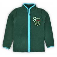 """20-42105OP """"Star"""" Толстовка для мальчика из поларфлиса, 3-7 лет, т-зеленый"""