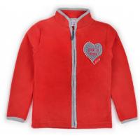 """20-42111OP """"Heart"""" Толстовка для девочки из поларфлиса, 3-7 лет, красный"""