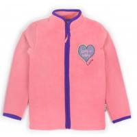 """20-42112OP """"Heart"""" Толстовка для девочки из поларфлиса, 3-7 лет, розовый"""