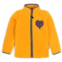 """20-42115OP """"Heart"""" Толстовка для девочки из поларфлиса, 3-7 лет, желтый"""