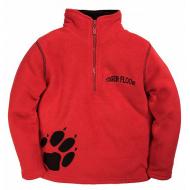 """20-4301OP """"Tiger Floor""""  Толстовка для мальчика, поларфлис, 3-7 лет, красный"""