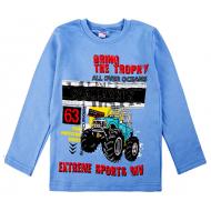 20-467106 Джемпер для мальчика, 5-8 лет,т- голубой