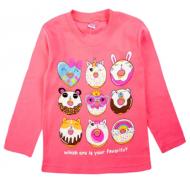 20-467204 Джемпер для девочки, 5-8 лет, розовый