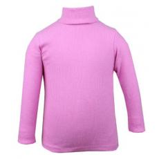 20-48304d Водолазка кашкорсе для девочки, 3-7 лет, розовый