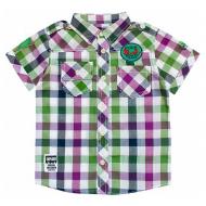 20-5692R Рубашка в клетку для мальчика, поплин, 2-6 лет, зеленый