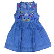 20-685 Платье джинсовое для девочки, 3-7 лет