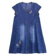20-777 Платье джинсовое для девочки, 3-7 лет
