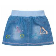 20-7692 Юбка джинсовая для девочки, 2-5 лет, голубой