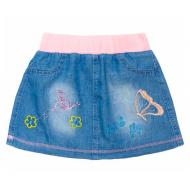 20-7693 Юбка джинсовая для девочки, 2-5 лет, розовый