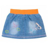 20-7694 Юбка джинсовая для девочки, 2-5 лет, коралловый