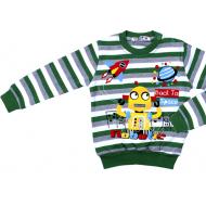 20-782109  Джемпер для мальчика, 2-5 лет, полоска/зеленый