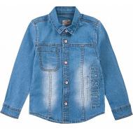 20-782op Джинсовая рубашка для мальчика, 1-8 лет