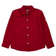 20-82104 Рубашка для мальчика, 2-6 лет, бордовый